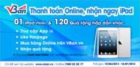 Thanh toán Online, trúng ngay iPad cùng Facebook Fanpage VBan.vn