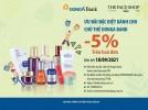 Giảm giá 5% trên hóa đơn khi mua sắm tại THE FACESHOP dành cho chủ thẻ DongA Bank (đến hết 18/09/2021)