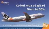 Kỷ niệm 4 năm chuyển đổi thương hiệu, Jetstar giảm giá tối thiểu 30%