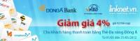 Thanh toán cước ĐTDĐ dễ dàng cùng Thẻ Đa năng Đông Á tại Linknet.vn