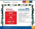 Ưu đãi giảm thêm 5% đối với khách hàng là chủ Thẻ DongA Bank