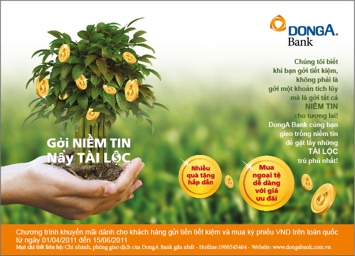 "DONGA BANK DEPLOYING PROMOTIONAL PROGRAM OF ""GIVING OF BELIEF, RECEIVING OF FORTUNE"""
