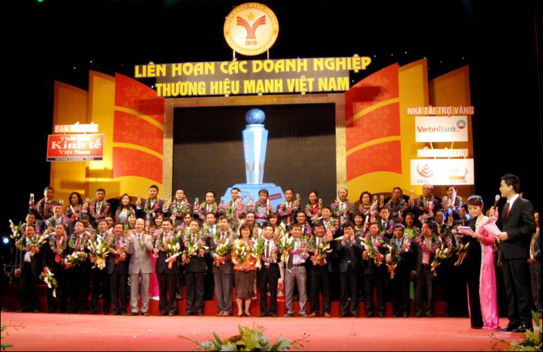 DongA Bank  receive award of flourished Vietnamese brand in  2010